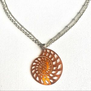 MONET Necklace With Cut-out Seashell Pendant